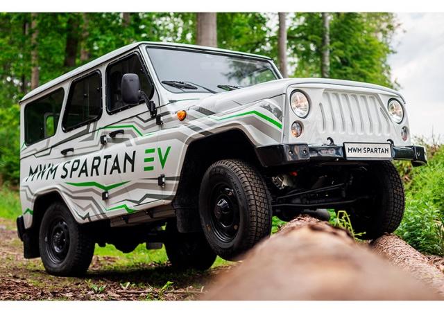 В Чехии представили электрический УАЗ «Хантер»