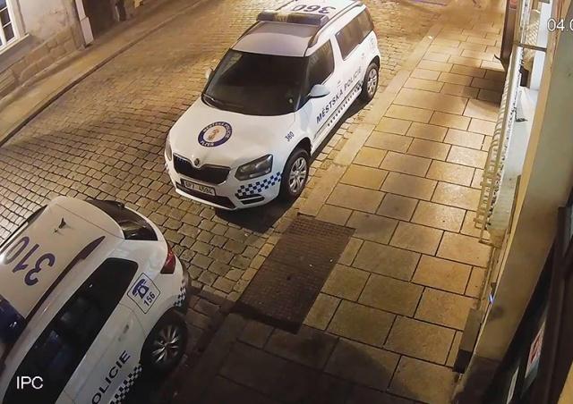Усатый «вандал» помял полицейскую машину в Чехии: видео