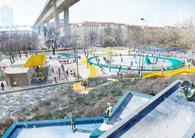 Под Нусельским мостом в Праге построят зону отдыха