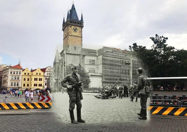 Прага в день советского вторжения и сейчас: фотопроект