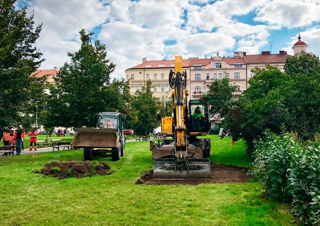 Началась масштабная реконструкция станции метро Jiřího z Poděbrad
