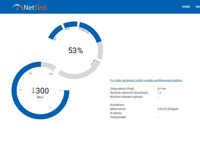 В Чехии заработал государственный измеритель скорости интернета