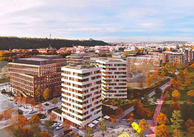 В Праге началось строительство нового жилого квартала