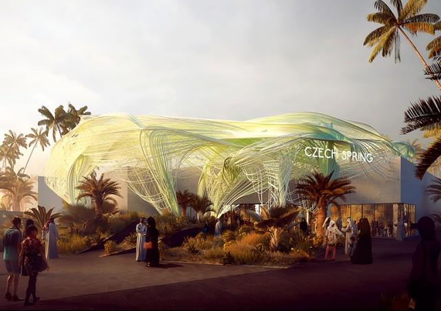 Как выглядит чешский павильон на Всемирной выставке в Дубае: видео