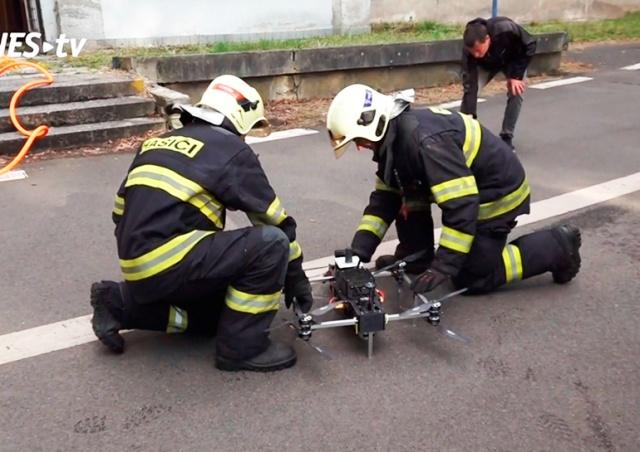 В Чехии разработали пожарный дрон нового типа: видео