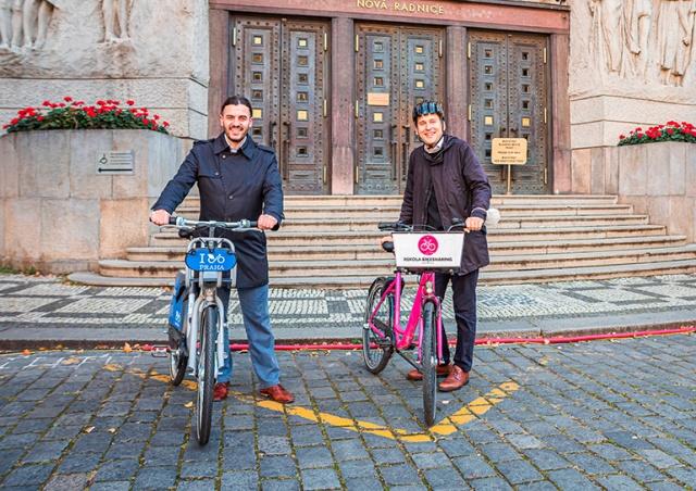 Прага запустила проект бесплатной аренды велосипедов на первые 15 минут