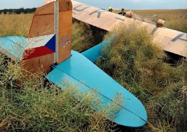 В Праге потерпел крушение исторический самолет