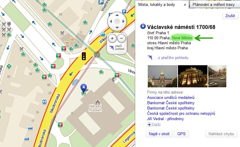 Электронная карта Чехии в интернете