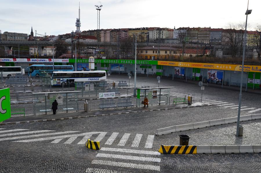Автобусный вокзал Florenc в Праге