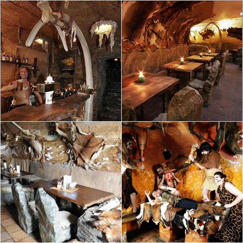 Первобытный ресторан Pravek в Праге