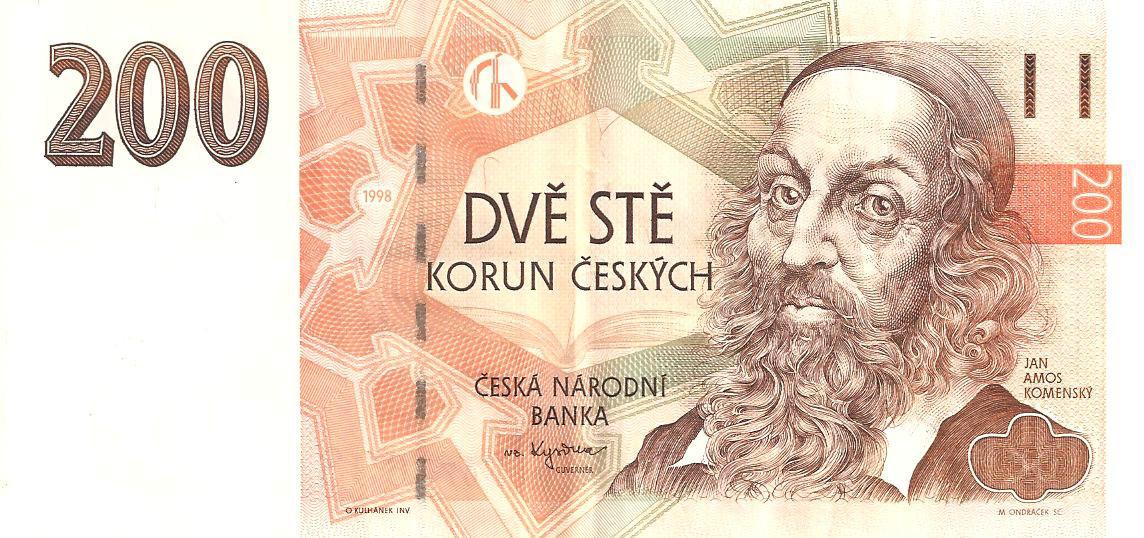 200 чешских крон