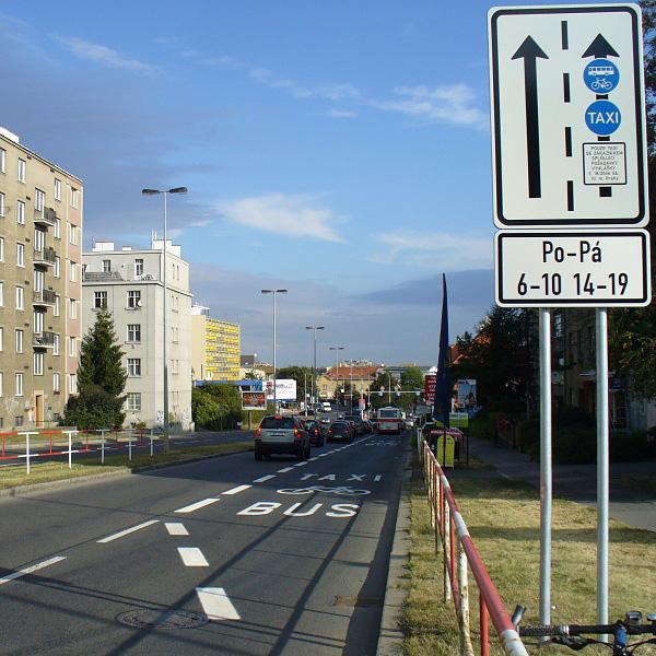 Автобус-велосипед-такси полоса