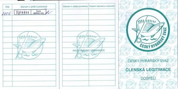 Членское удостоверение Чешского союза рыболовов (1)