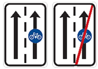 Знак выделенной велосипедной полосы