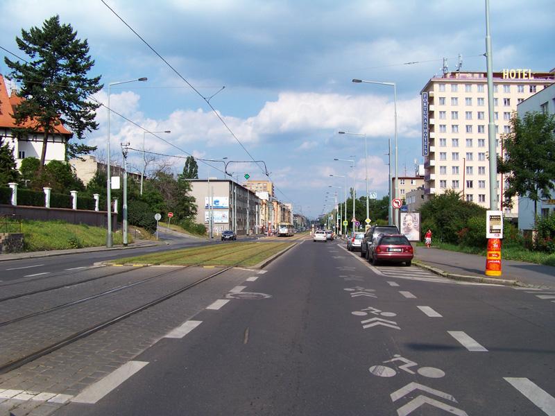 Пиктограммовый коридор для велосипедистов в Чехии