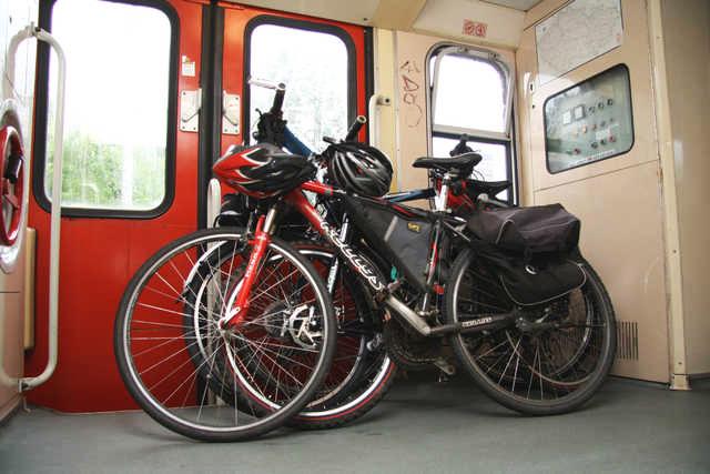 Провоз велосипеда в поезде Чехия