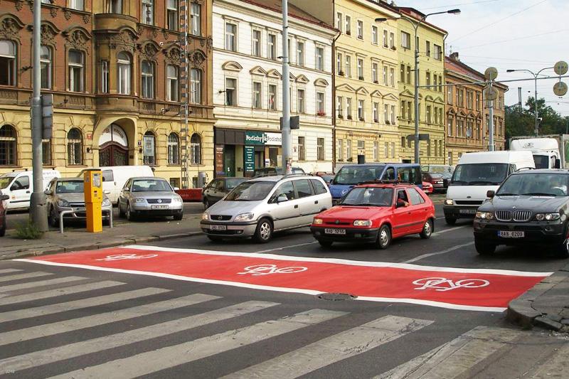 Стоп-зона для велосипедистов в Чехии