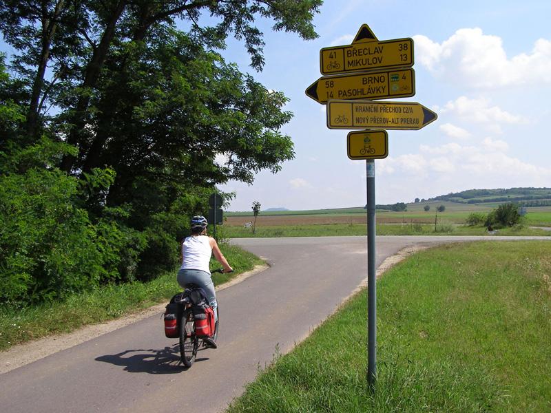 Велосипедные трассы в Чехии