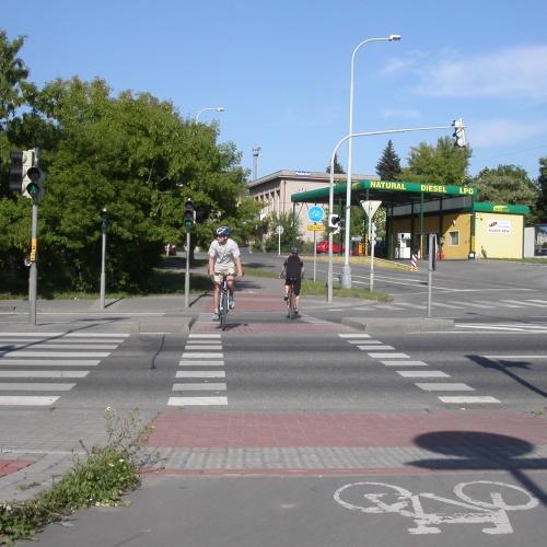 Велосипедный переезд в Чехии