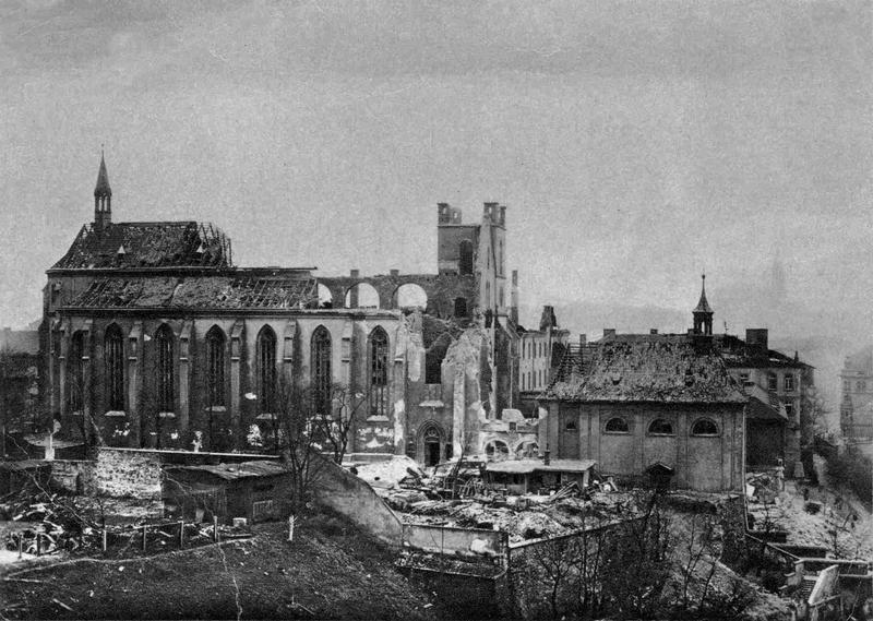 Эммаусский монастырь после налета