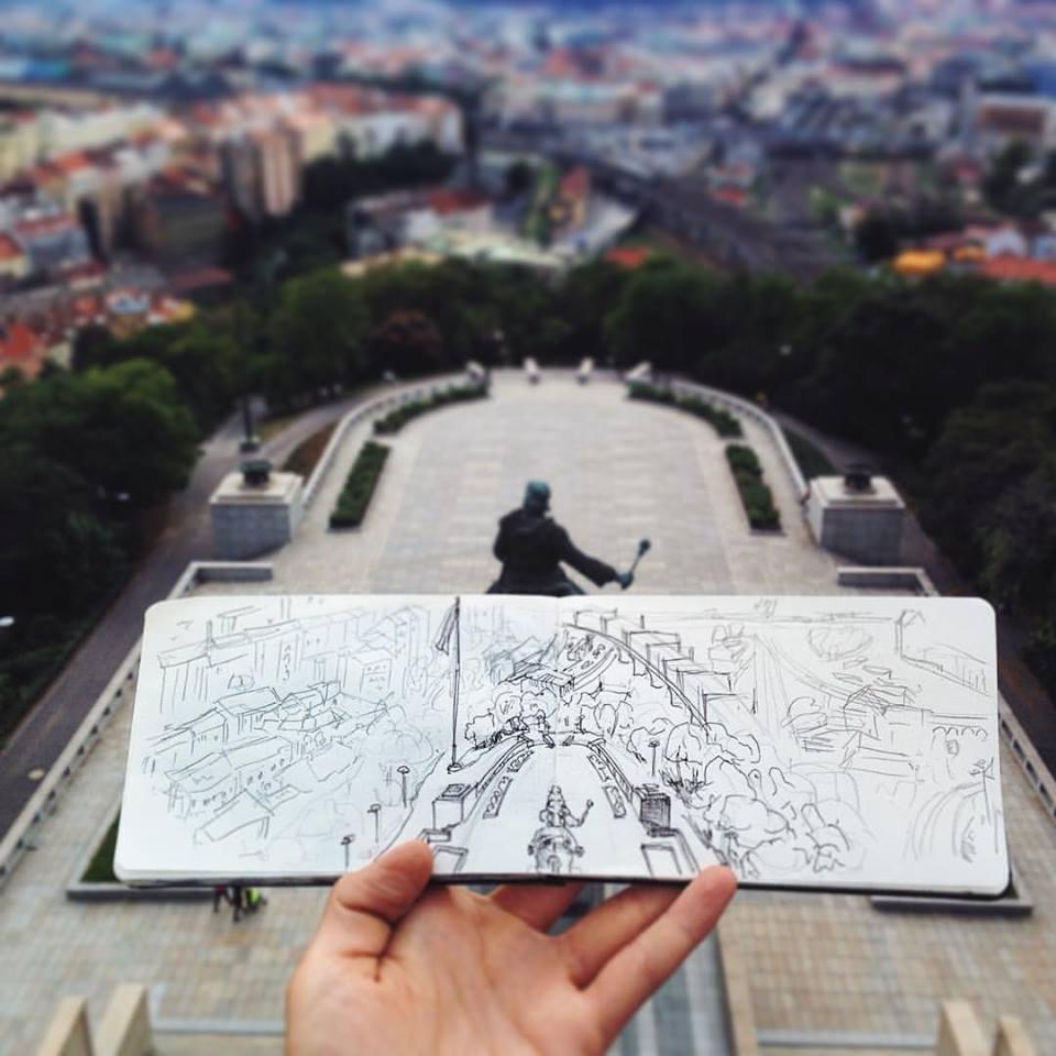 Зарисовки и эскизы Праги (23)
