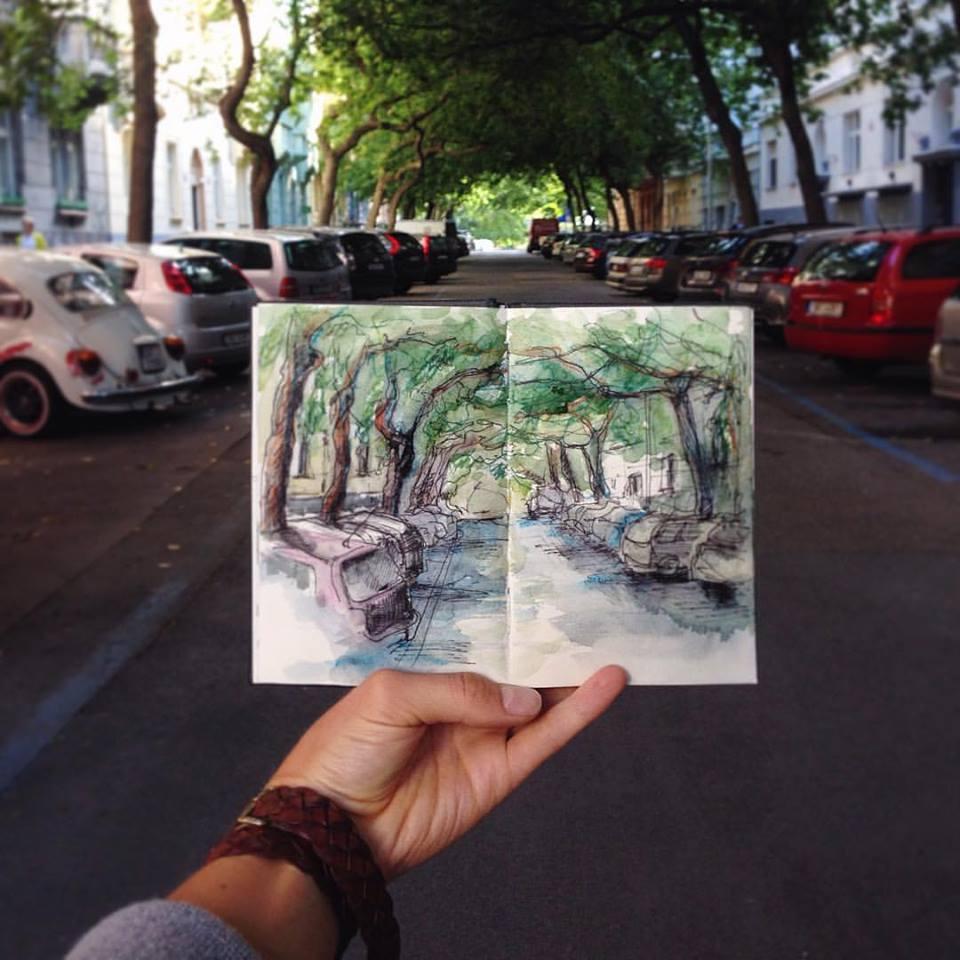 Зарисовки и эскизы Праги (25)