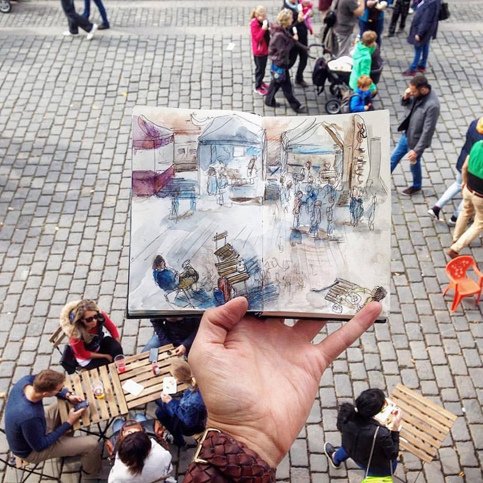 Зарисовки и эскизы Праги (26)