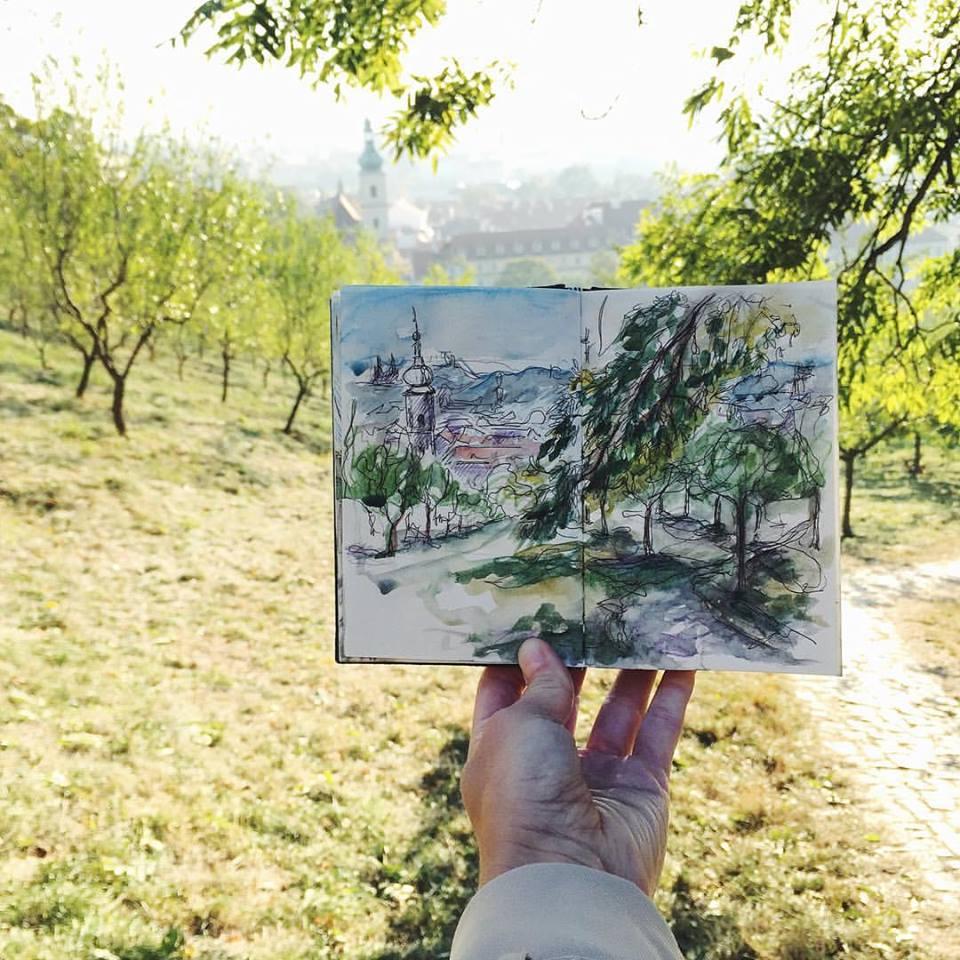 Зарисовки и эскизы Праги (29)
