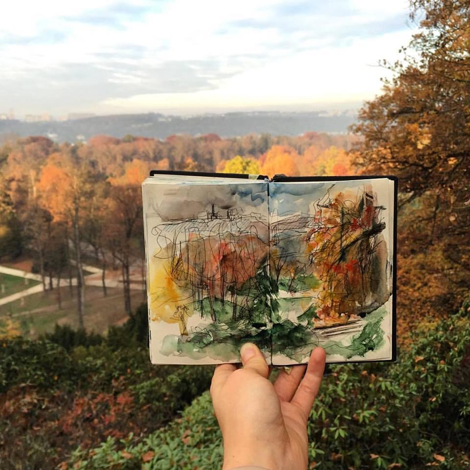 Зарисовки и эскизы Праги (30)