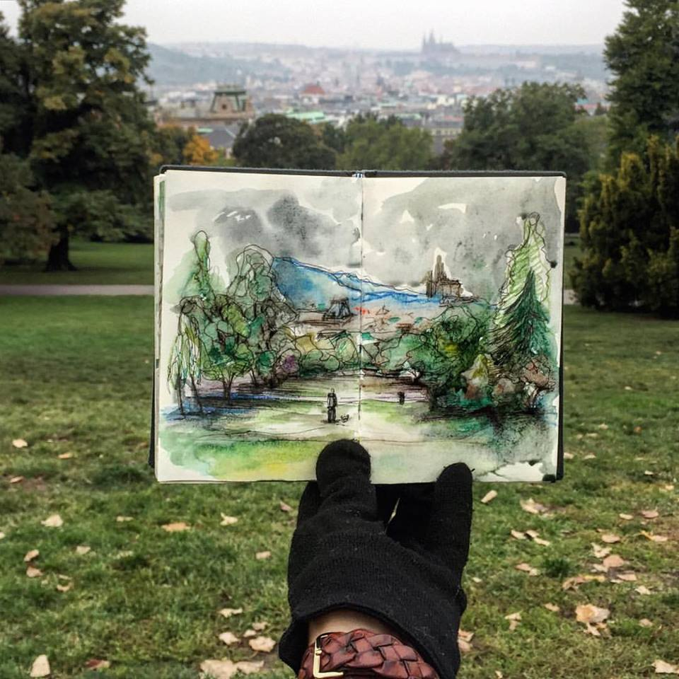 Зарисовки и эскизы Праги (31)