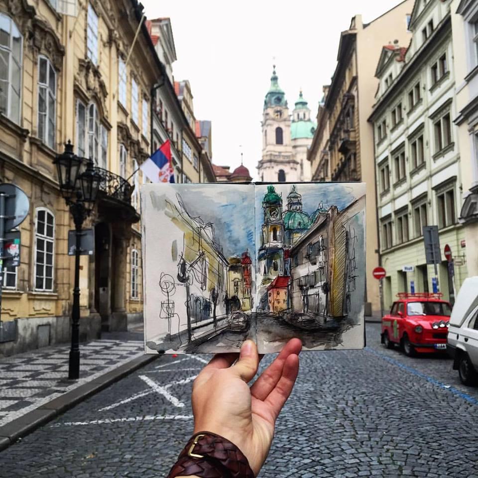 Зарисовки и эскизы Праги (32)