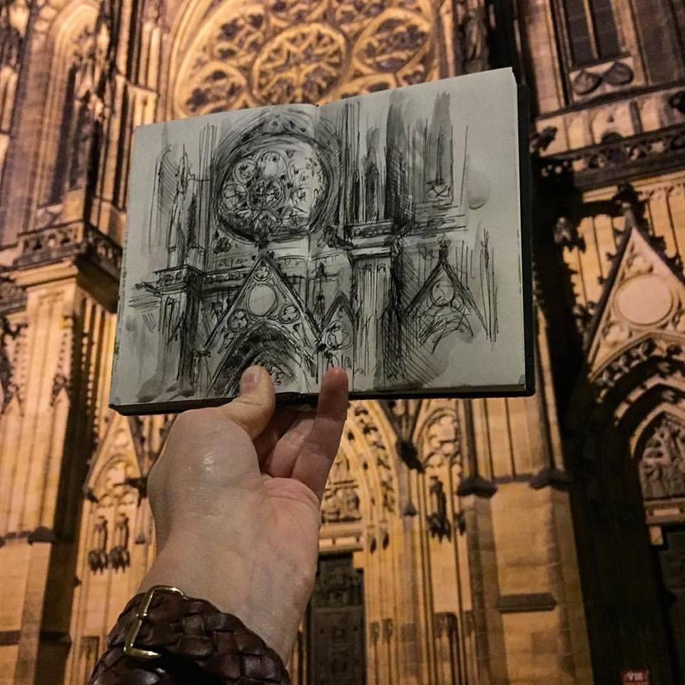 Зарисовки и эскизы Праги (33)