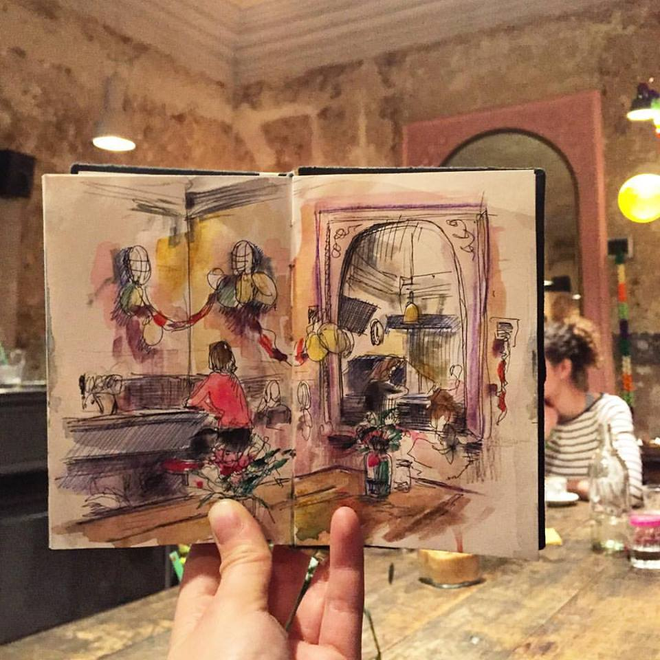 Зарисовки и эскизы Праги (36)