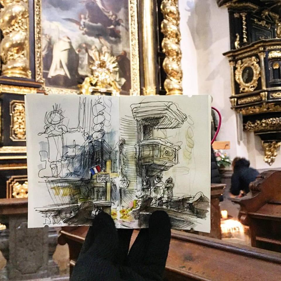 Зарисовки и эскизы Праги (37)