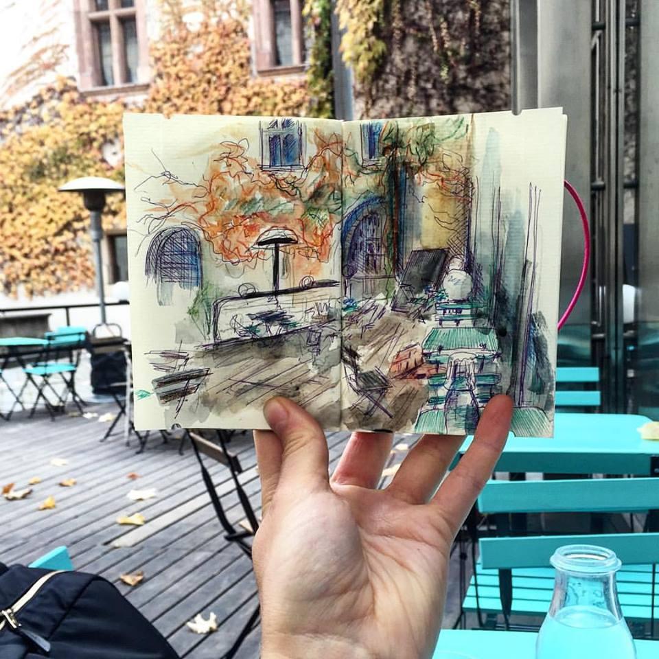 Зарисовки и эскизы Праги (38)