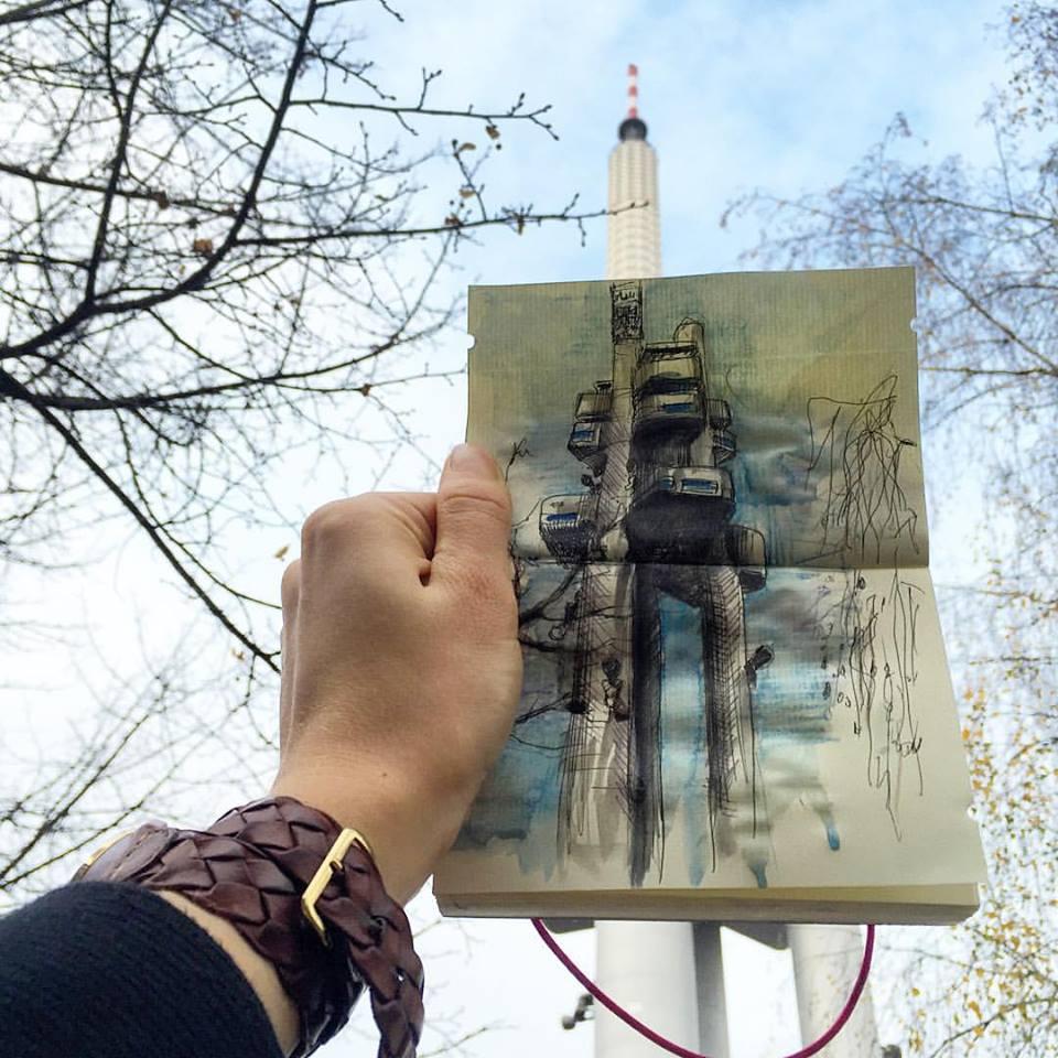 Зарисовки и эскизы Праги (39)