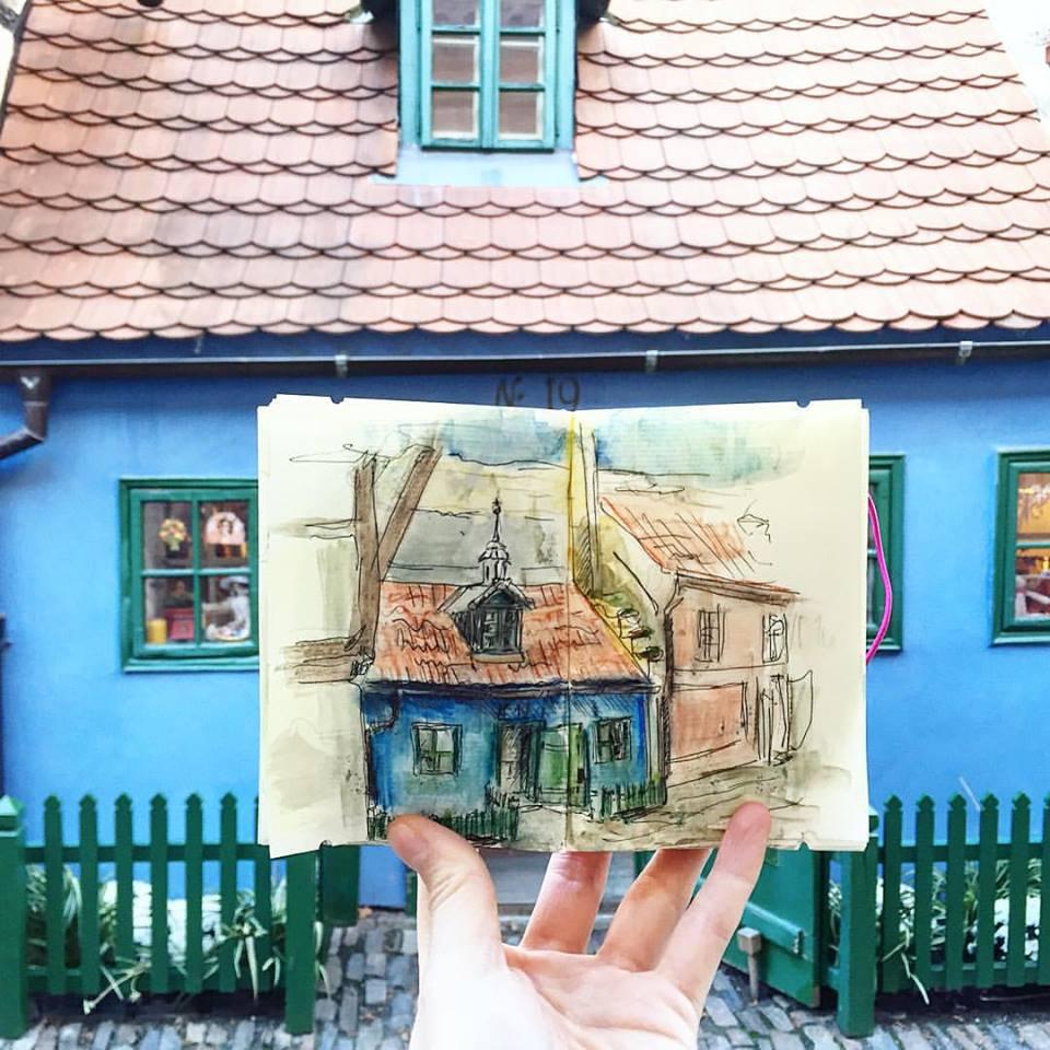 Зарисовки и эскизы Праги (41)