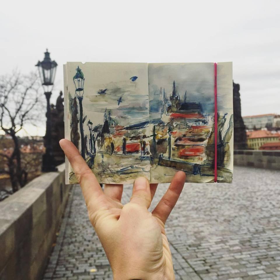 Зарисовки и эскизы Праги (42)