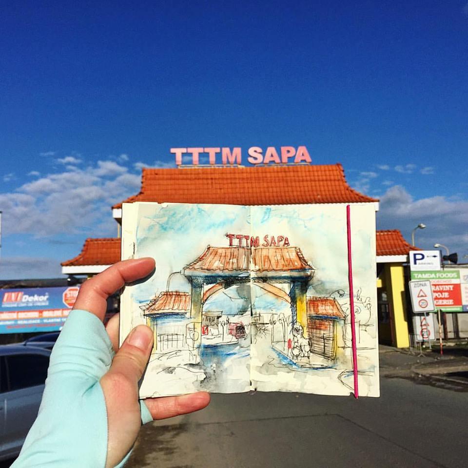 Зарисовки и эскизы Праги (43)