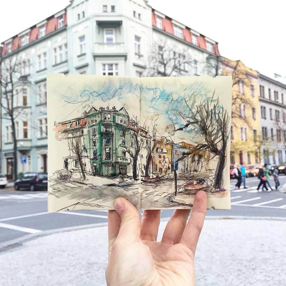 Зарисовки и эскизы Праги (44)