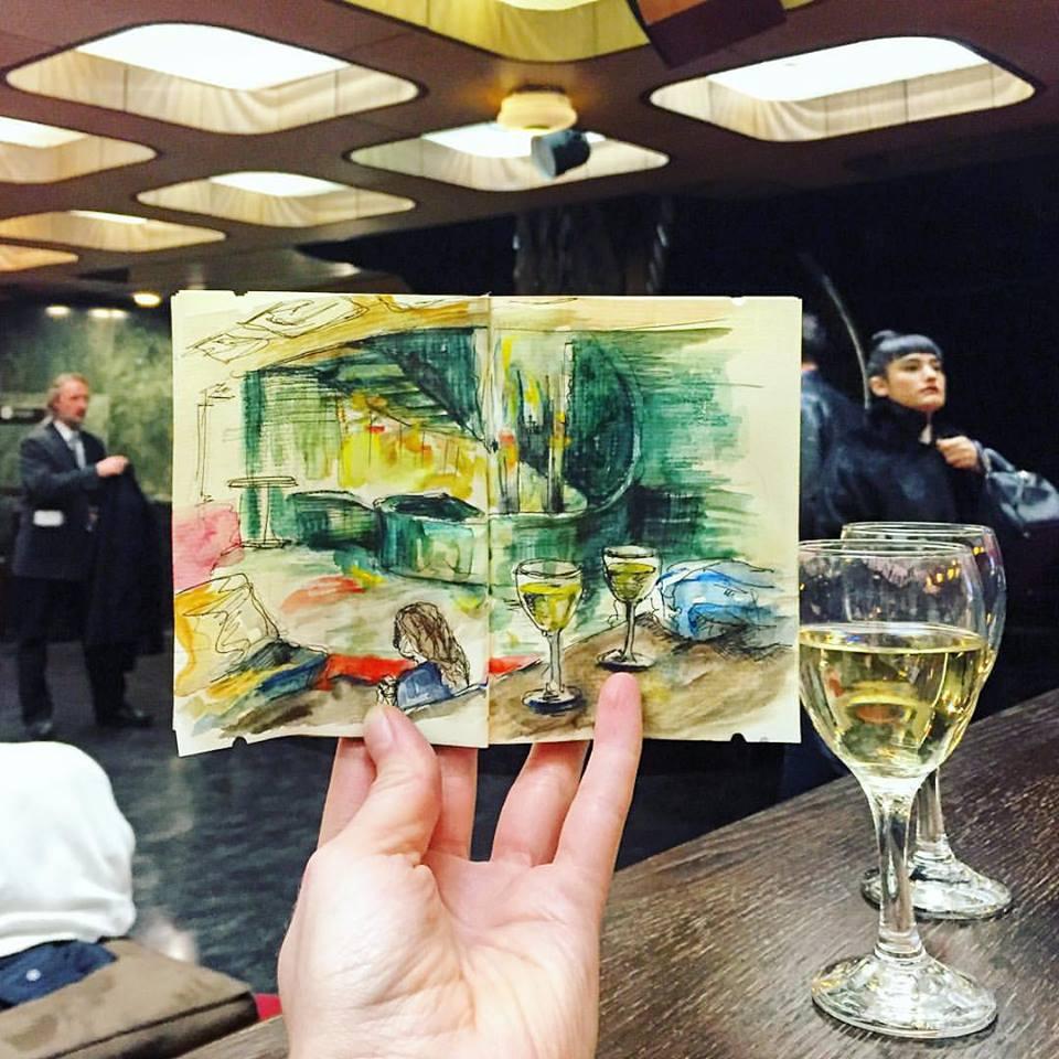 Зарисовки и эскизы Праги (45)