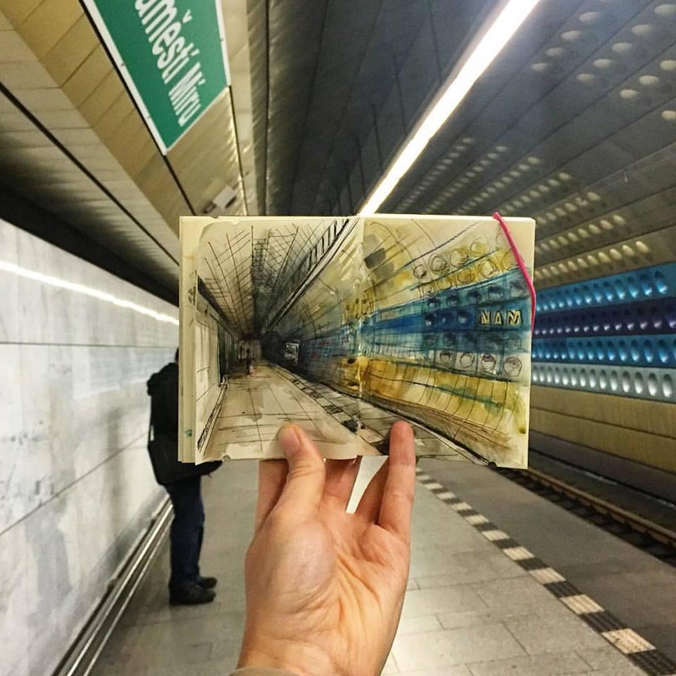 Зарисовки и эскизы Праги (46)