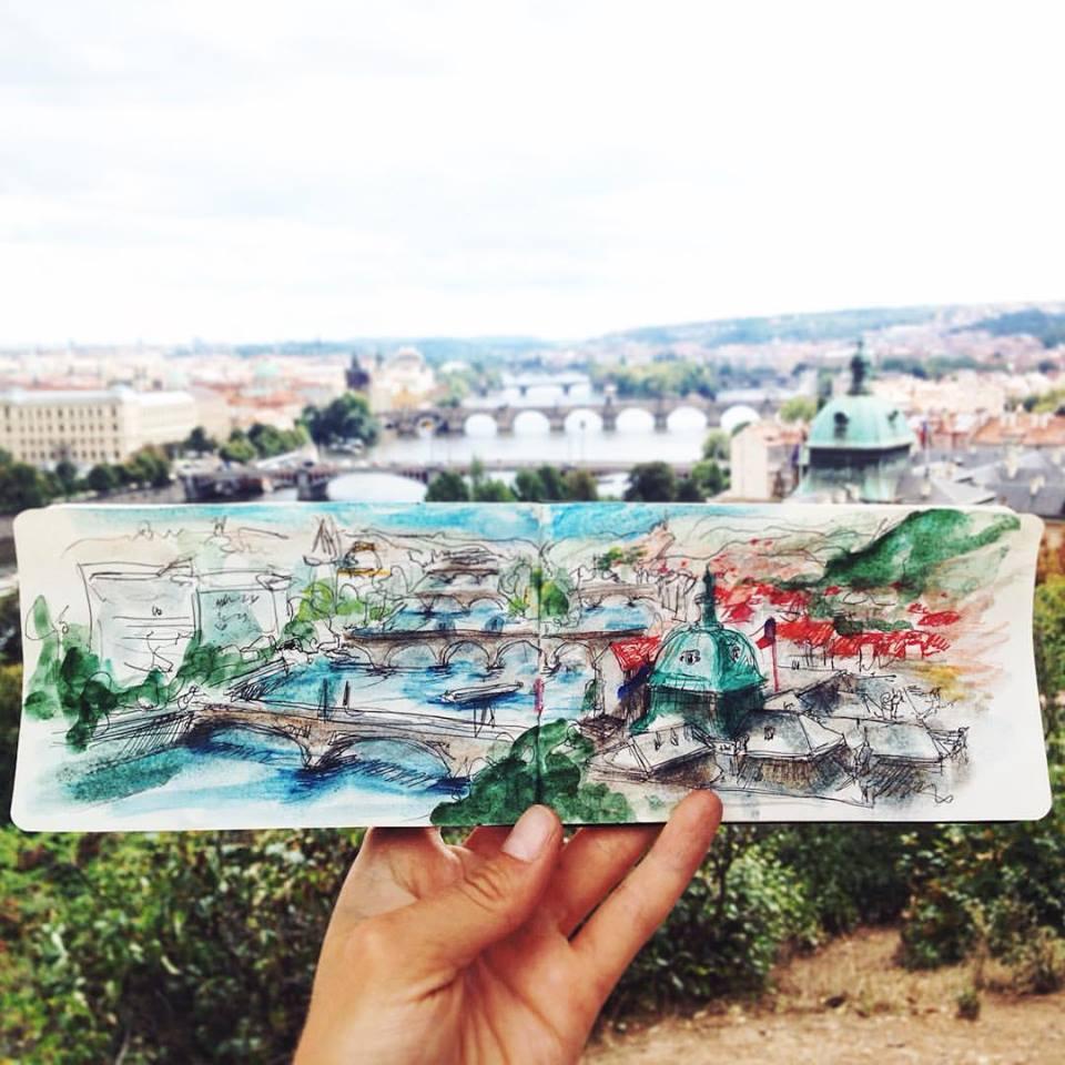 Зарисовки и эскизы Праги (52)