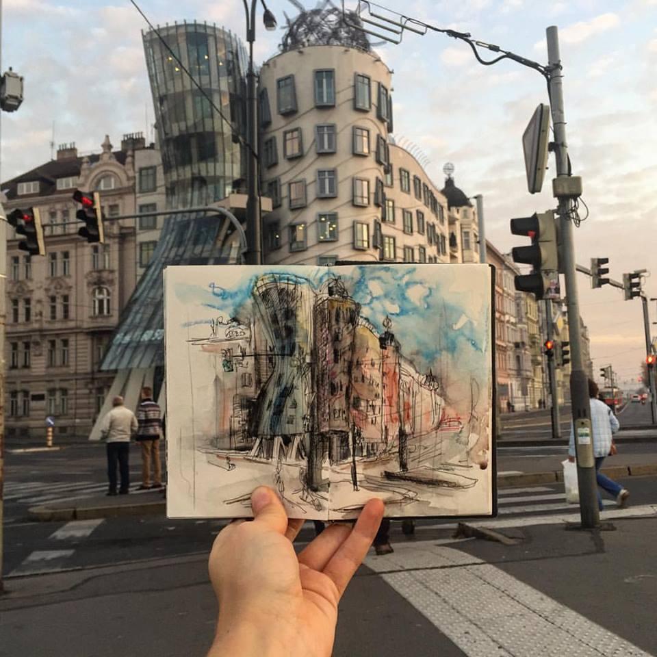 Зарисовки и эскизы Праги (53)