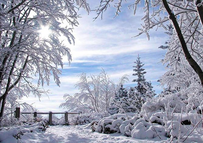 мороз,-снег