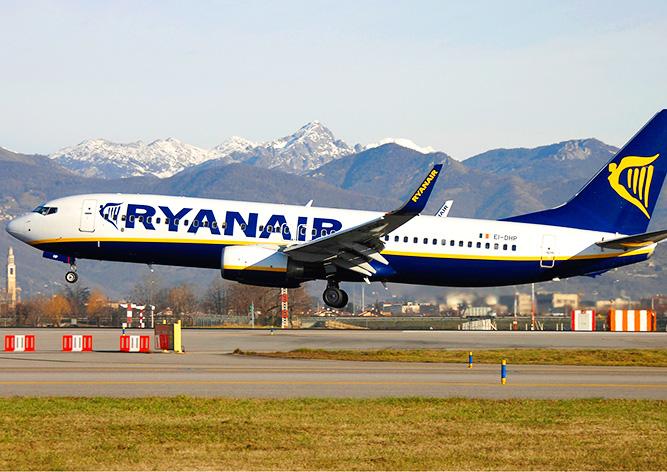 Ryanair объявил распродажу: билеты от 1 евро