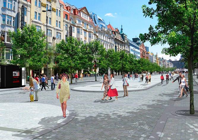 В последующем 2017г. начнется реконструкция Вацлавской площади