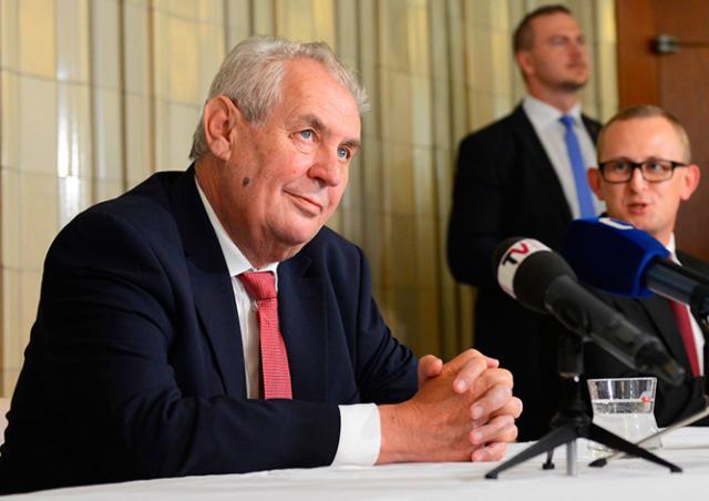 Правительство Чехии не поддержало введение статьи за оскорбление президента