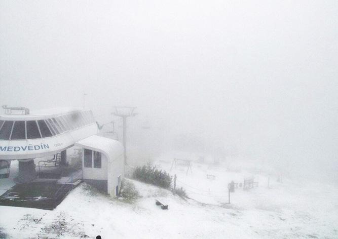 Видео: в Чехии выпал первый снег