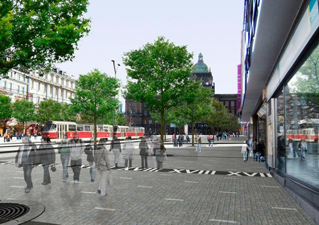 Трамваи вернутся на Вацлавскую площадь Праги